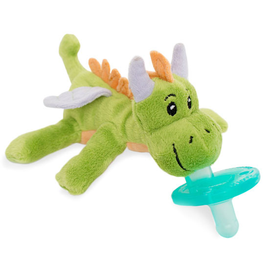 WubbaNub Plush Pacifier - Fairytale Green Dragon_thumb3