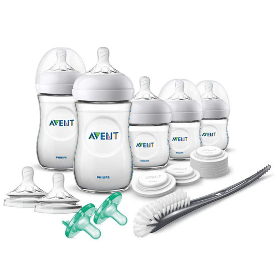 Philips Avent Natural Newborn Baby Bottle Starter Gift Set - Clear_thumb1