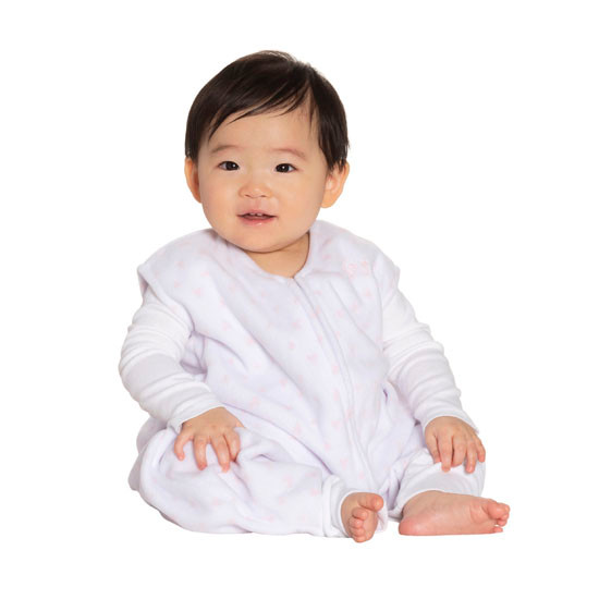 Halo Micro-Fleece Early Walker SleepSack Wearable Blanket - Mini Pink Hearts_thumb1_thumb2