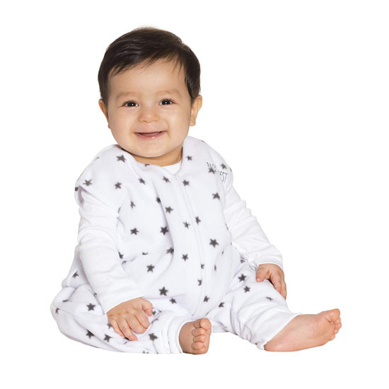 Halo Micro-Fleece Early Walker SleepSack Wearable Blanket - Mini Stars Charcoal_thumb3