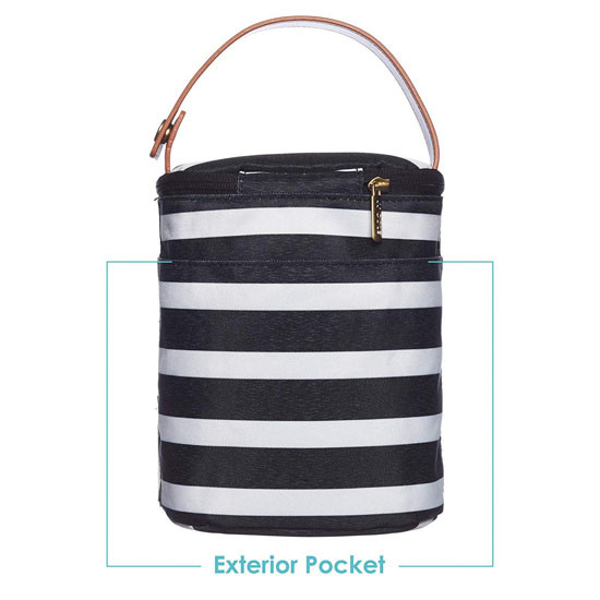 JJ Cole Bottle Cooler - Black & White Stripe_thumb1_thumb2