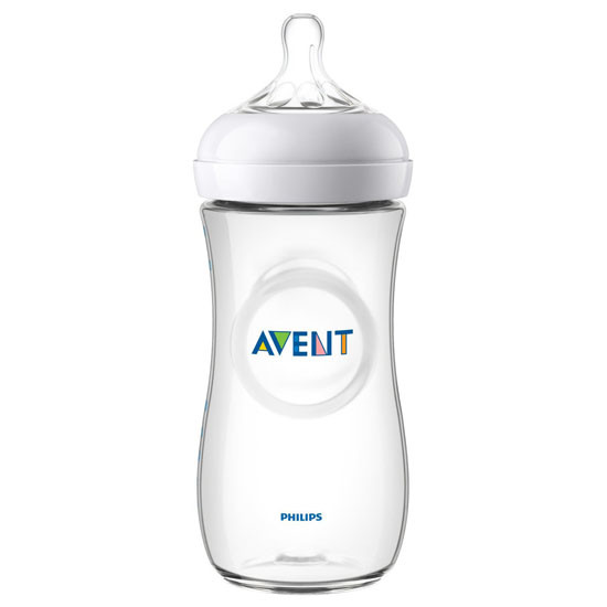 Philips Avent Natural Baby Bottle- 11oz (2 Pack) Clear