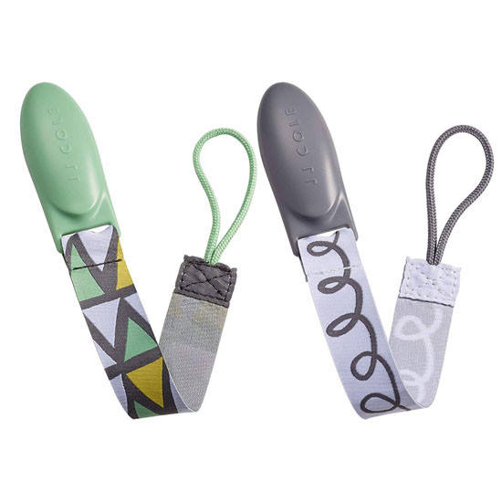 JJ Cole Pacifier Clip 2 Pack - 50 Shades of Grey_thumb3
