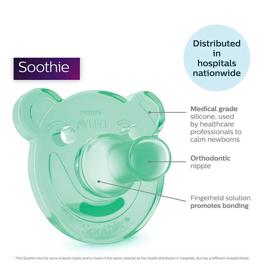 Philips Avent Soothie Bear Pacifier - 0-3 months (2 Pack) Pink/Purple_thumb5