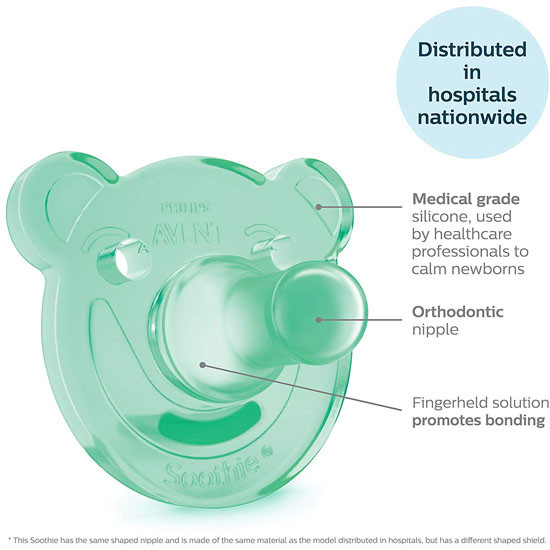 Philips Avent Soothie Bear Pacifier - 3+ months (2 Pack) Green/Blue_thumb5