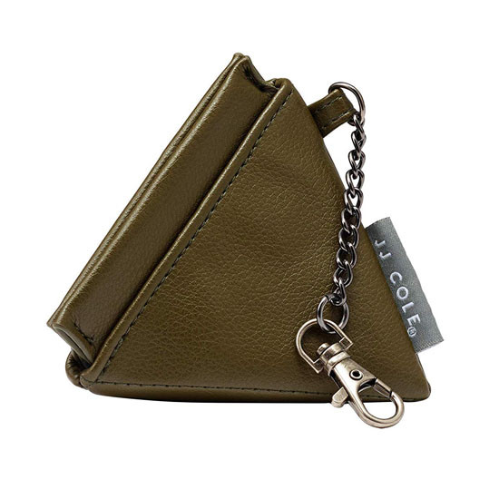 JJ Cole Leather Pacifier Pyramid Pod - Olive Product