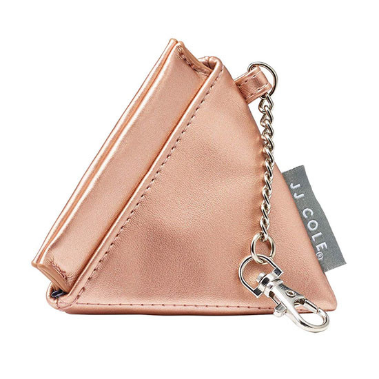 JJ Cole Leather Pacifier Pyramid Pod - Rose Gold_thumb1