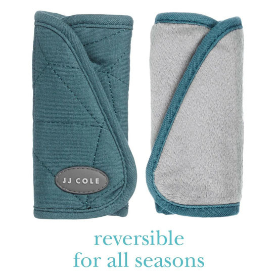 JJ Cole Reversible Strap Covers - Teal Fractal