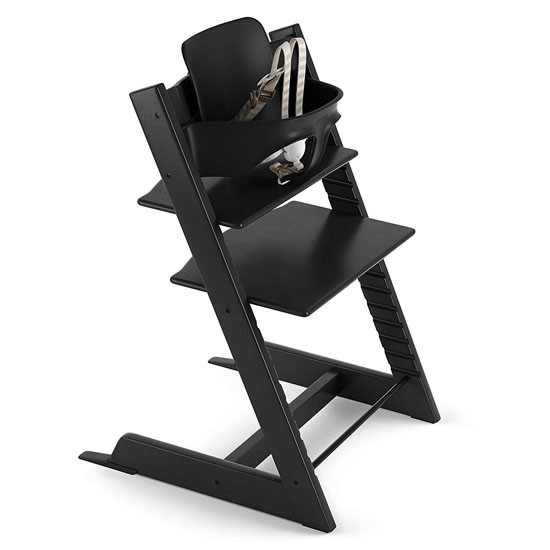 STOKKE Tripp Trapp 2019 High Chair with Baby Set - Black