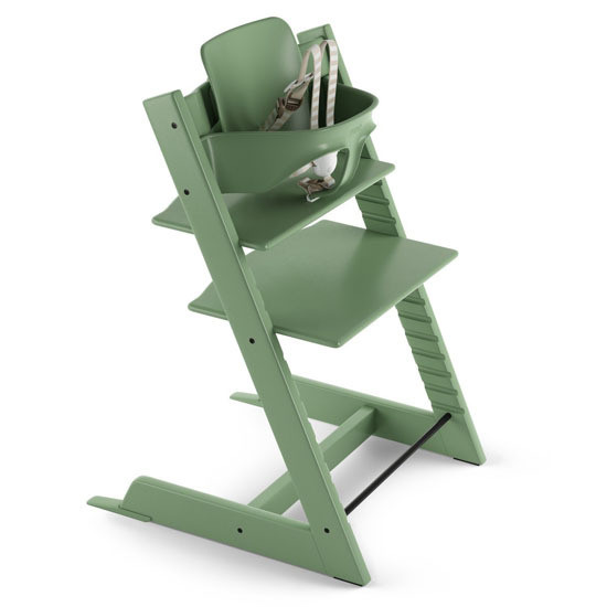 STOKKE Tripp Trapp 2019 High Chair with Baby Set Moss Green