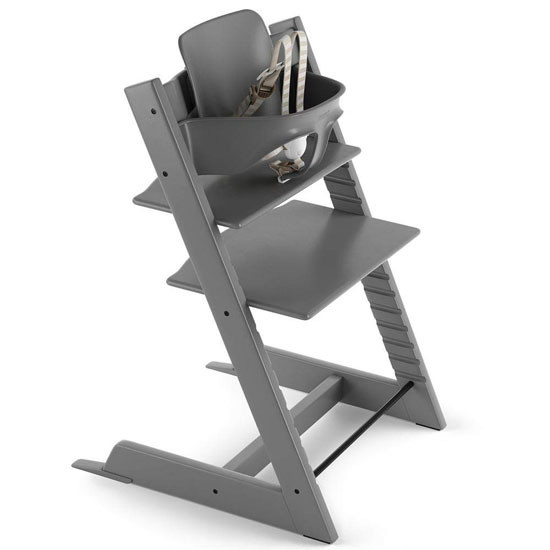 STOKKE Tripp Trapp 2019 High Chair with Baby Set Storm Grey