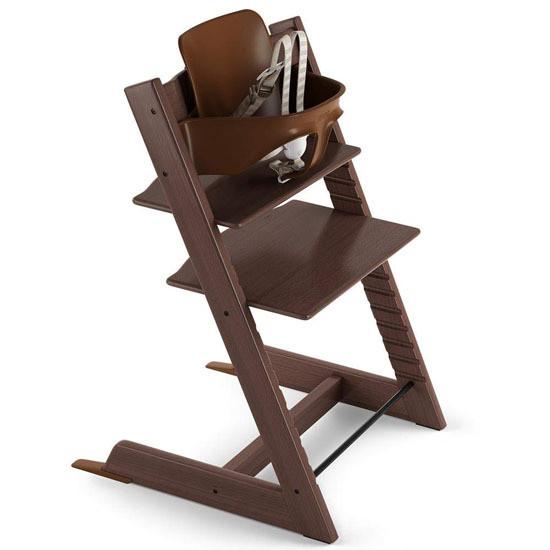 STOKKE Tripp Trapp 2019 High Chair with Baby Set Walnut