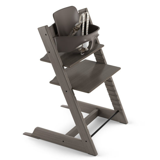 STOKKE Tripp Trapp 2019 High Chair with Baby Set Hazy Grey