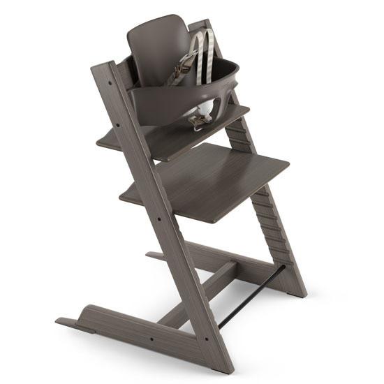 STOKKE Tripp Trapp 2019 High Chair with Baby Set Hazy Grey