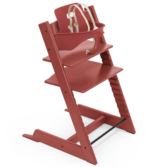 STOKKE Tripp Trapp High Chair with Baby Set Warm Red
