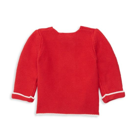 Elegant Baby Cardigan - Red Back