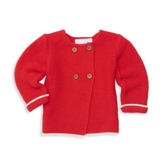 Elegant Baby Cardigan - Red