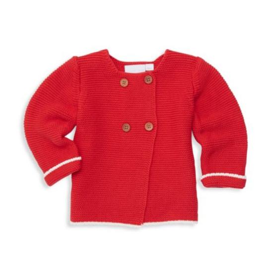 Elegant Baby Cardigan - Red