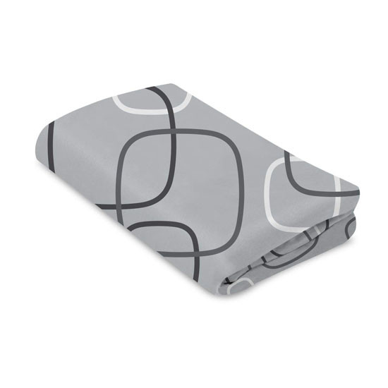 4moms Breeze Waterproof Playard Sheet - Silver/White