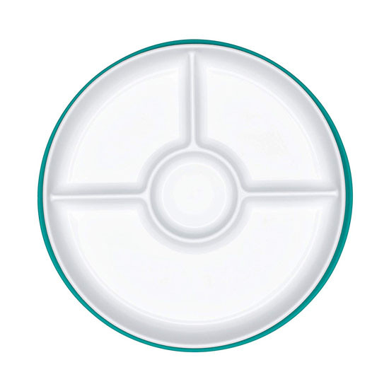 OXO Tot Stick & Stay Divided Plate - Teal