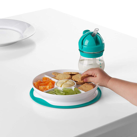 OXO Tot Stick & Stay Divided Plate - Teal_thumb5