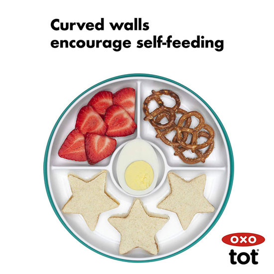 OXO Tot Stick & Stay Divided Plate - Teal_thumb8