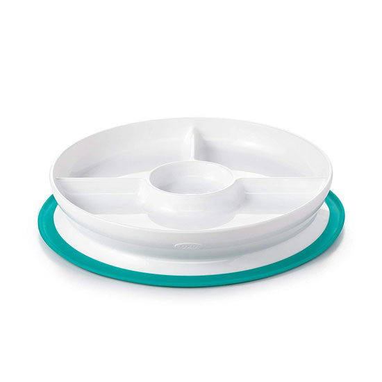 OXO Tot Stick & Stay Divided Plate - Teal_thumb1