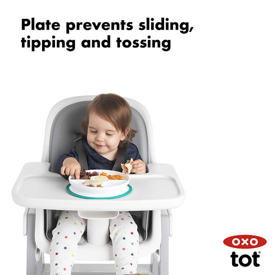 OXO Tot Stick & Stay Divided Plate - Pink_thumb4