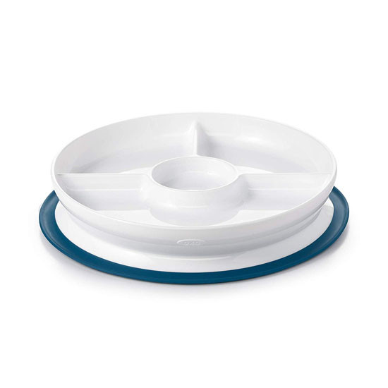 OXO Tot Stick & Stay Divided Plate - Navy_thumb1