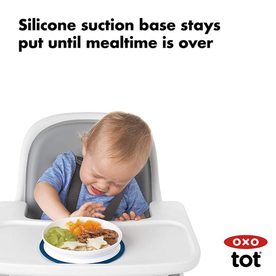 OXO Tot Stick & Stay Plate - Navy_thumb4
