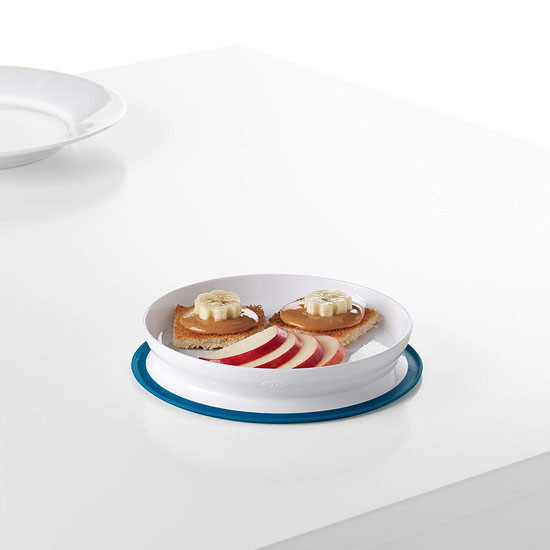 OXO Tot Stick & Stay Plate - Teal_thumb3
