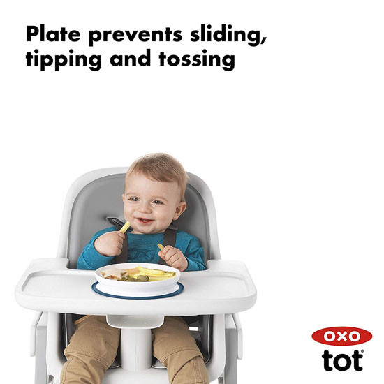 OXO Tot Stick & Stay Plate - Teal_thumb5