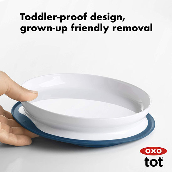 OXO Tot Stick & Stay Plate - Teal_thumb6