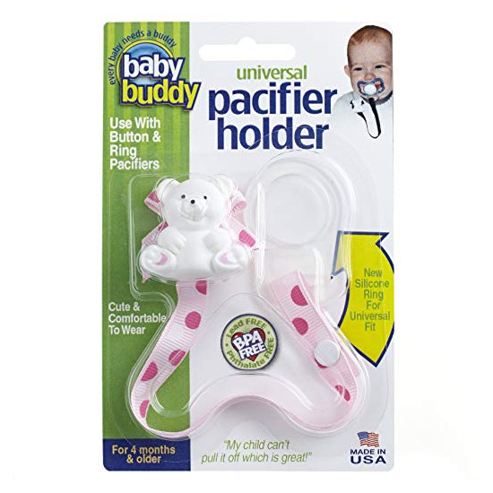 Baby Buddy Universal Pacifier Holder - Dots - Pinky Product