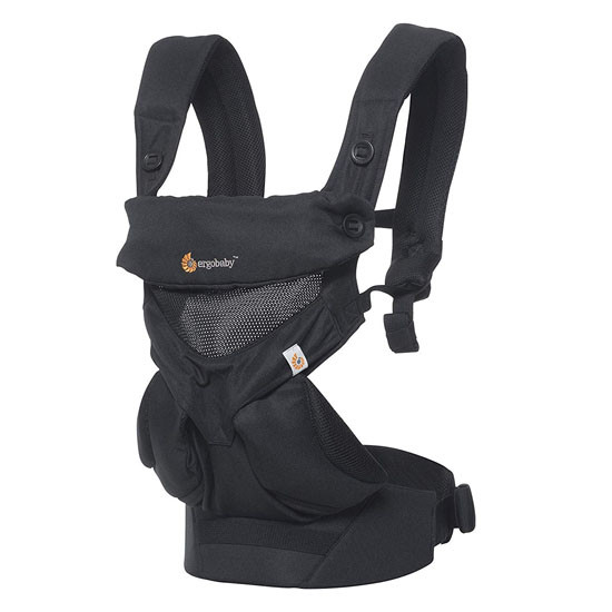 Ergo Baby 4 Position 360 Baby Carrier - Cool Air Mesh Onyx Black_thumb1