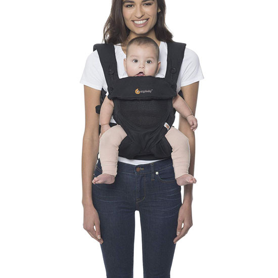 Ergo Baby 4 Position 360 Baby Carrier - Cool Air Mesh Onyx Black_thumb3