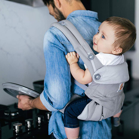 Ergo Baby 4 Position 360 Baby Carrier - Pearl Grey_thumb4