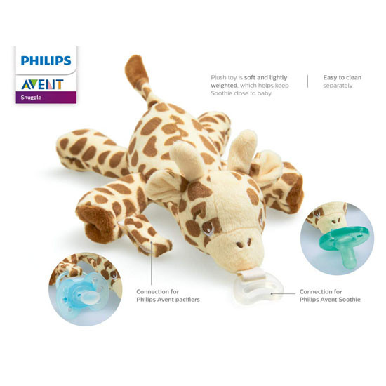 Avent Soothie Snuggle Pacifier - Giraffe_thumb1_thumb2