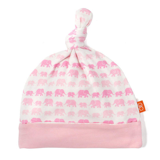 Magnificent Baby Dancing Elephants Modal Hat - Pink Product