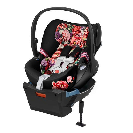 CYBEX Cloud Q with SensorSafe Infant Car Seat - Spring Blossom Dark_thumb1