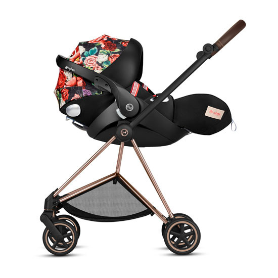 CYBEX Cloud Q with SensorSafe Infant Car Seat - Spring Blossom Dark_thumb6