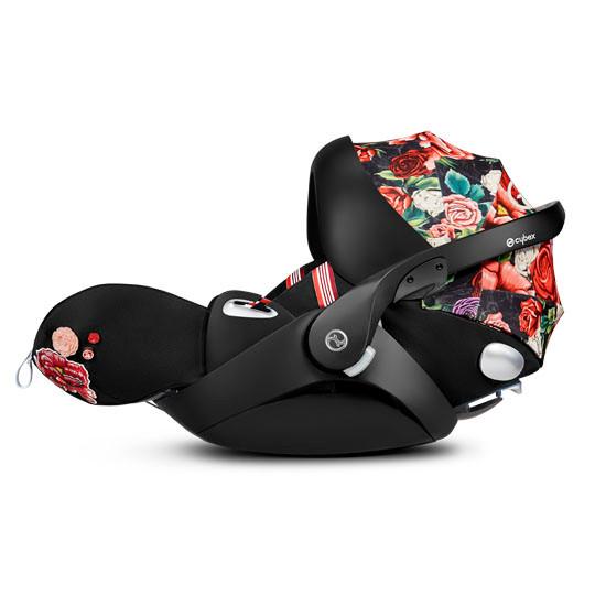 CYBEX Cloud Q with SensorSafe Infant Car Seat - Spring Blossom Dark_thumb3