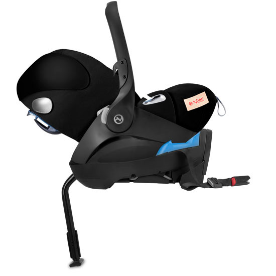CYBEX Cloud Q with SensorSafe Infant Car Seat - Spring Blossom Dark_thumb5