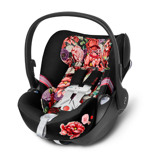 CYBEX Cloud Q with SensorSafe Infant Car Seat - Spring Blossom Dark_thumb1_thumb2