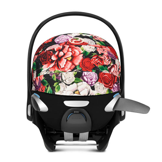 CYBEX Cloud Q with SensorSafe Infant Car Seat - Spring Blossom Dark_thumb4