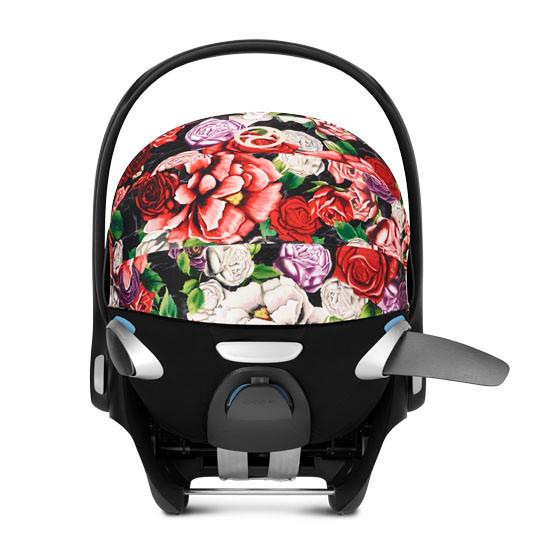 CYBEX Cloud Q with SensorSafe Infant Car Seat - Spring Blossom Dark_thumb4