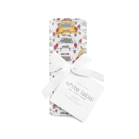 """Aden + Anais 47"""" Silky Soft Swaddle - City Living Taxi_thumb1"""