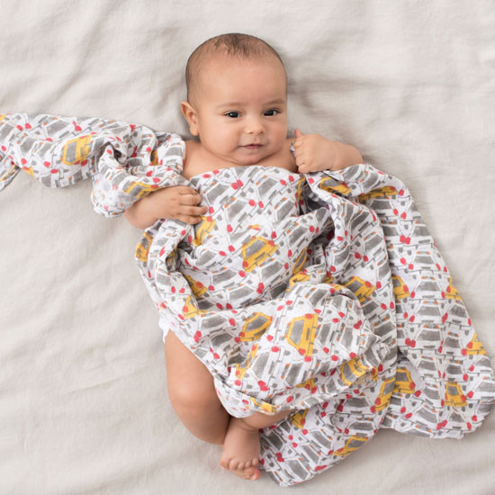 """Aden + Anais 47"""" Silky Soft Swaddle - City Living Taxi_thumb4"""