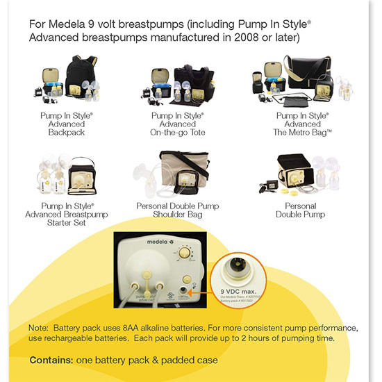 Medela Pump In Style Battery Pack - 8 Count_thumb1_thumb2