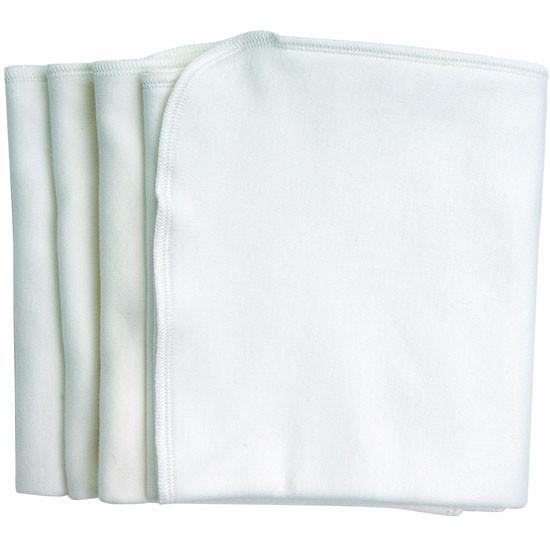 Under The Nile 4 Burp Cloths - White